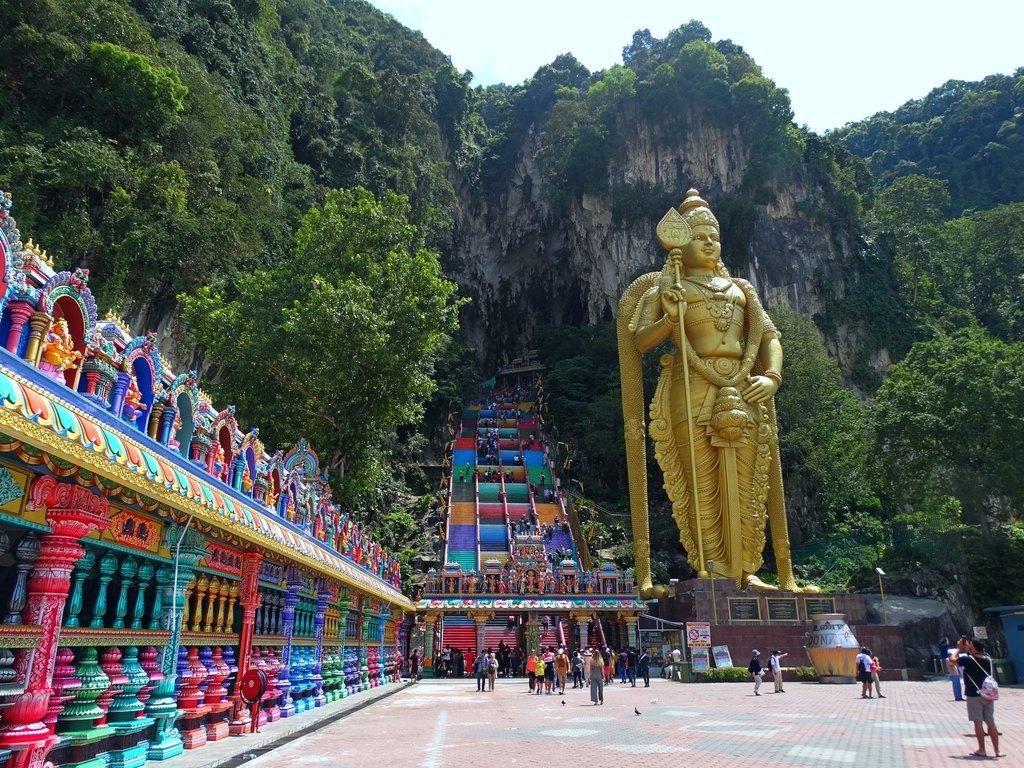 Imagem icónica das Batu Caves, Malásia