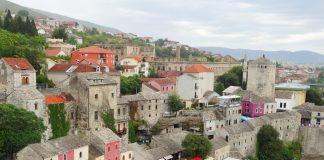 Vistas de Mostar, Bósnia e Herzegovina