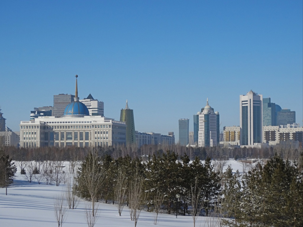 Skyline in Nur-Sultan, Kazakhstan