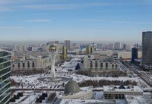Views of the Bayterek, one of the best things to see in Nur-Sultan