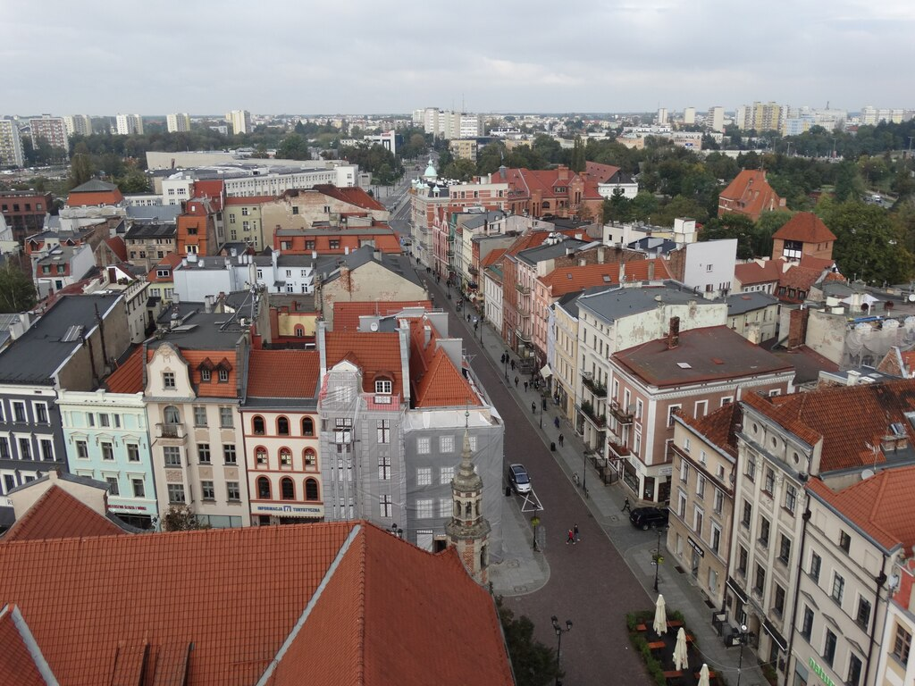 Views of the Town Hall Tower - one of the best things to see in Torun in one day